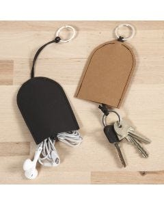 A Pouch for Keys and Headphones from Faux Leather Paper