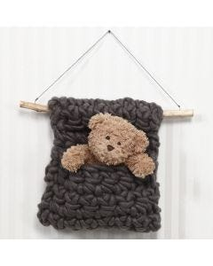 A crocheted Wall Hanging in XL Manga Yarn