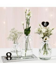 Free-standing Table Numbers or  Hearts with Blackboard Paint