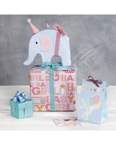 Baby Shower Gift Wrapping with Decorations