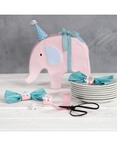 Bow-shaped Napkins with Card Napkin Rings