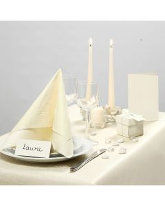 Party Inspiration with off-white Table Decorations etc.