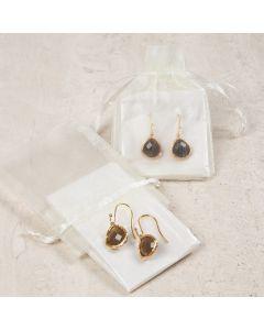 Earrings with Stone Jewellery Pendants