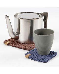 A Trivet and Coaster from Cotton Tube Yarn