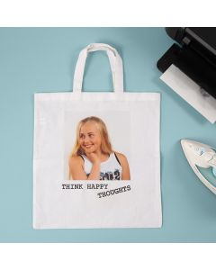 A Photo transferred onto a Shopping Bag using Transfer Paper