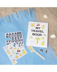 A Notebook decorated with Rub-on Stickers