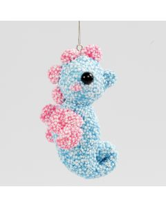 A Sea Horse hanging Decoration made from a Polystyrene Ball covered with Foam Clay