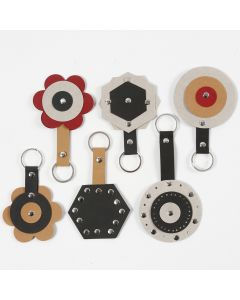 Faux Leather Paper Keyring Fobs