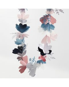 A Flower Garland made from Card and Vellum Paper