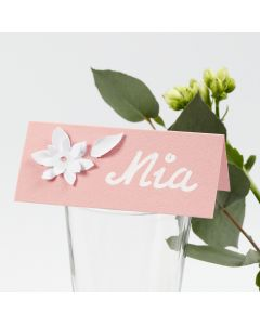 Place Cards with 3D Effect punched-out Card Flowers