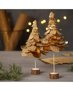 Christmas Trees from punched-out Faux Leather Paper in  Layers