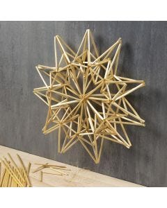 A large Straw Star hanging Decoration