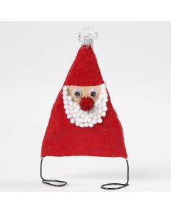 Father Christmas from Bonsai Wire and Gauze Bandage decorated with Pom-poms