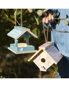A homemade  Bird Box painted with Craft Paint and decorated with Plus Color Markers