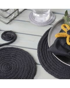 Place Mats and Coasters made from knitted Tube