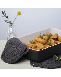 Potholders make from knitted Tube