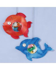 Sea creatures with plastic waste in their tummy