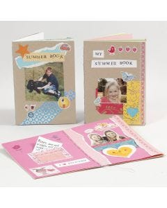 Make your own book from card and paper