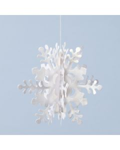 3D hanging snowflake from pearlescent paper