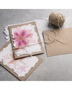 How to make handmade paper with a napkin design