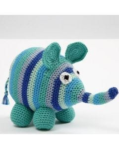 A crocheted Elephant
