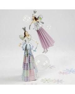 Fairies with paper dresses