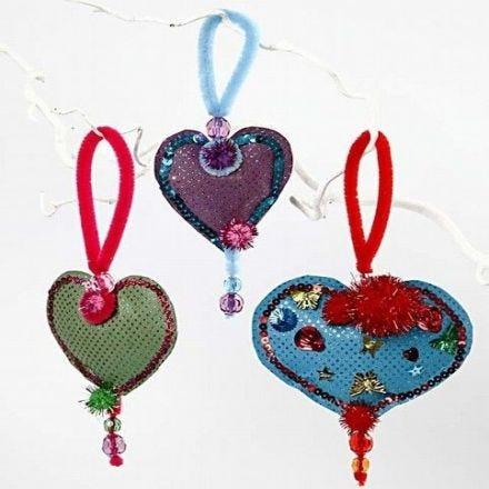 Stuffed Paper Hearts