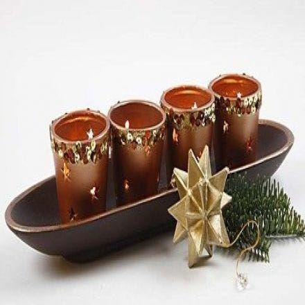 Candle Holders painted with Metal Paint
