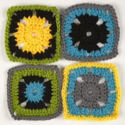 Crocheted Retro Squares