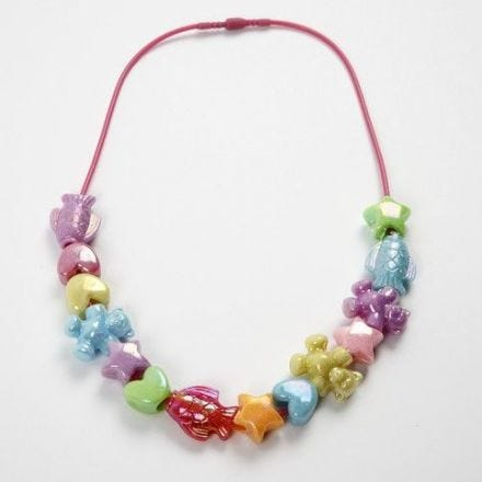A Necklace with Child-Friendly Snap Clasp