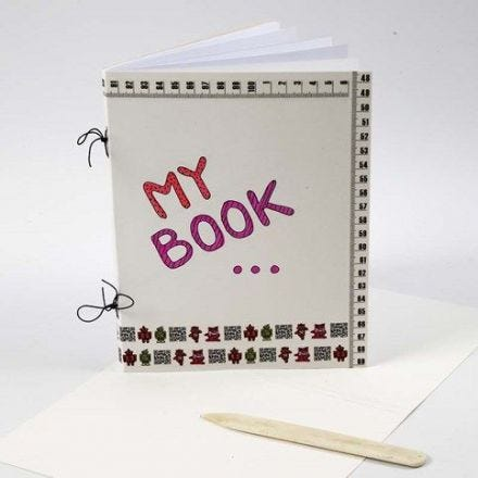 A Scrapbook made from Construction Card and Copy Paper