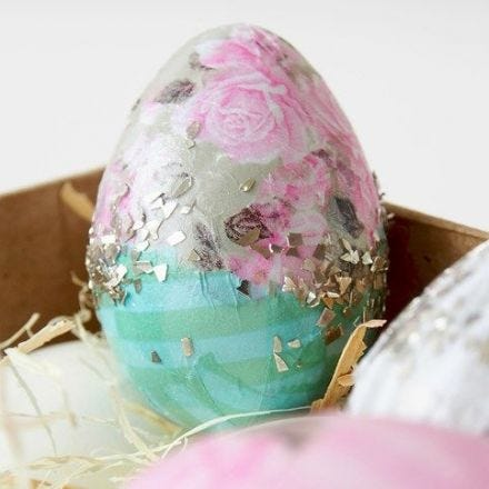 Natural Eggs decorated with Skagen Decoupage Paper
