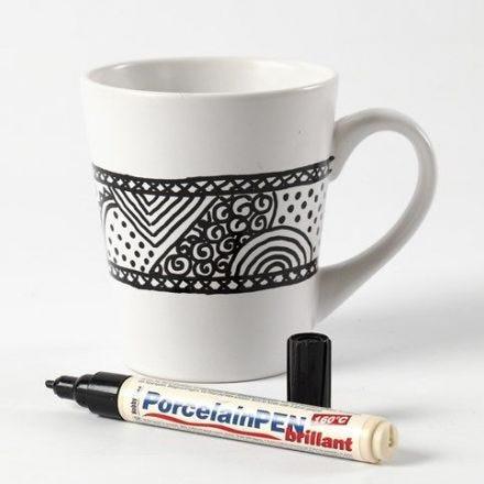 Doodling on Porcelain Mugs