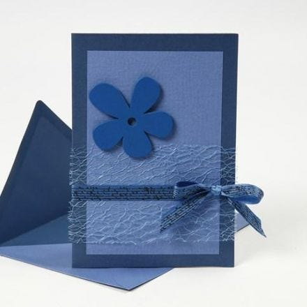 A blue Greeting Card with Materials from the Happy Moments Series