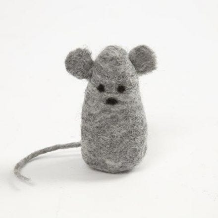 A Mouse made from wet felted Merino Wool