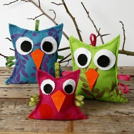 Felt Owls with a Print