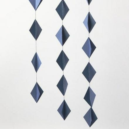 Hanging Decorations made from 3D Card Diamonds stitched together