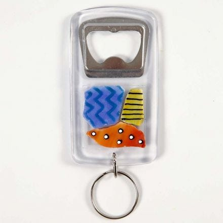 A Bottle Opener with Glass Mosaic