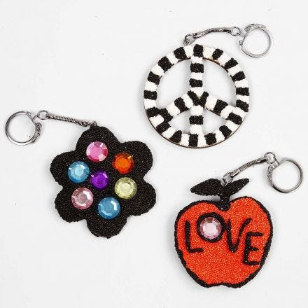 Wooden Keyring Fobs covered with Foam Clay