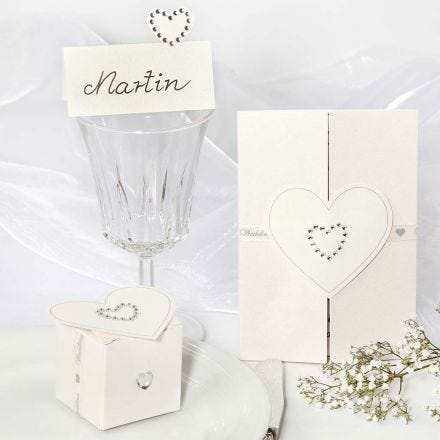 Wedding Decorations with Rhinestone Heart Stickers