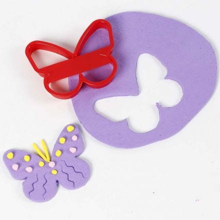 A Butterfly cut out from Silk Clay