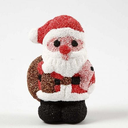 A Polystyrene Father Christmas covered with Foam Clay
