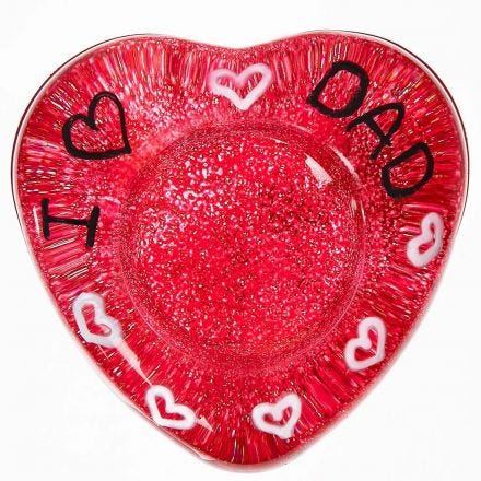 A painted Tea Light Candle Holder decorated with Graphics