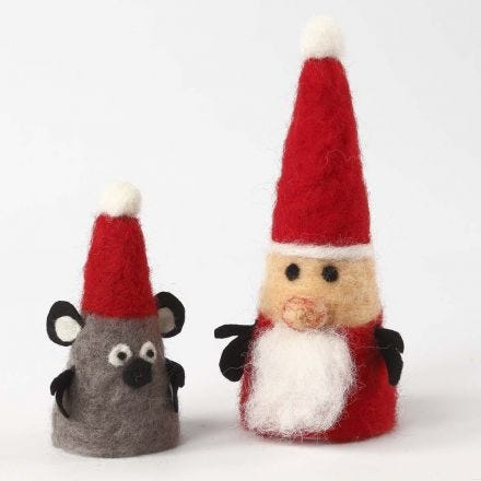 Christmas Figures from Polystyrene Cones with Needle Felting