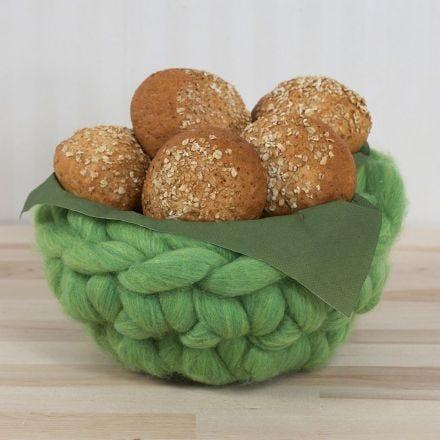 A crocheted Basket from XL Chunky Yarn