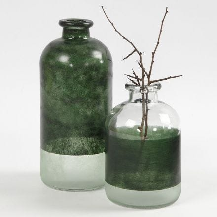 Pharmacy Bottles decorated with Glass Color