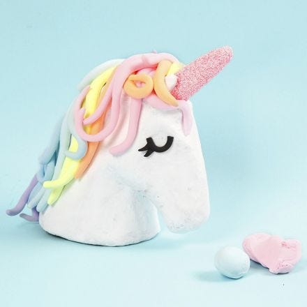 A Unicorn Trophy decorated with Silk Clay and Foam Clay