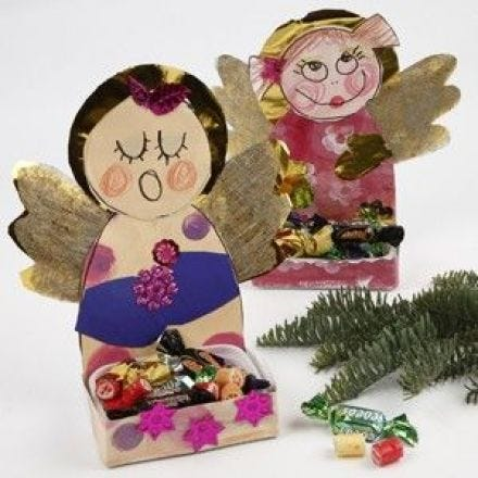 Angels with a Tray for Christmas Treats
