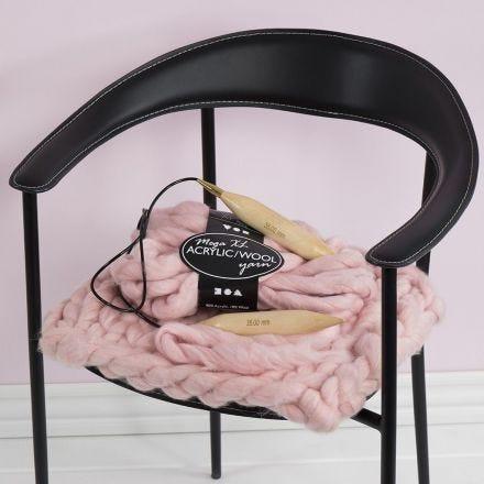 An XL Chunky Knit Chair Cushion