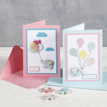 Baby Shower – To and From Cards with Design Stickers